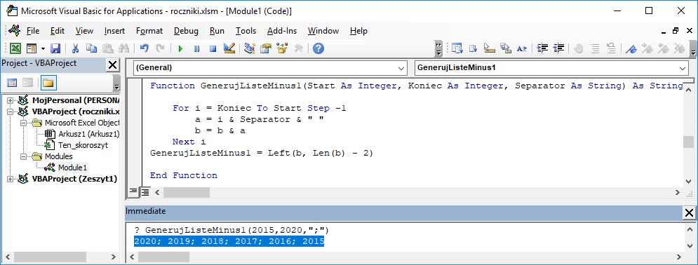 10 Niestandardowa funkcja użytkownika Excel w VBA
