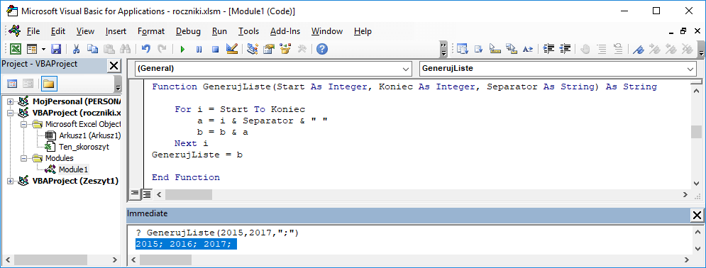 4 Niestandardowa funkcja użytkownika Excel w VBA