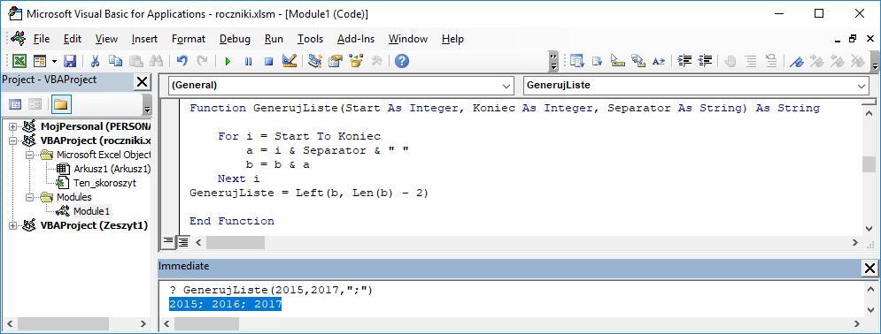 5 Niestandardowa funkcja użytkownika Excel w VBA