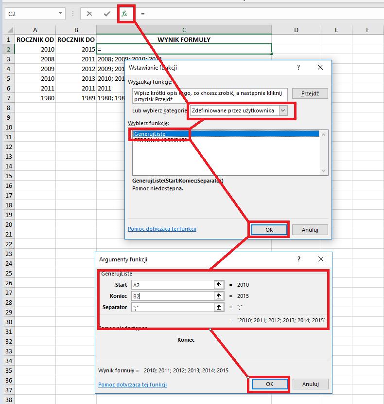 8 Niestandardowa funkcja użytkownika Excel w VBA