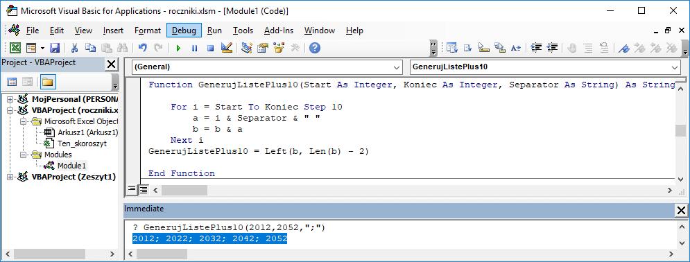9 Niestandardowa funkcja użytkownika Excel w VBA